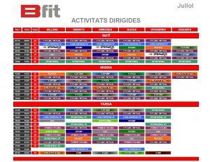 horari gimnas juliol