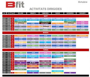 horari gimnas bfit octubre