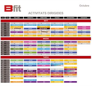 horari octubre bfit
